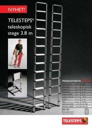 TELESTEPS® teleskopisk stege 3.8 m - Stegcentralen.se