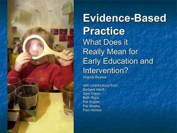 Evidence-Based Practice - NPDCI