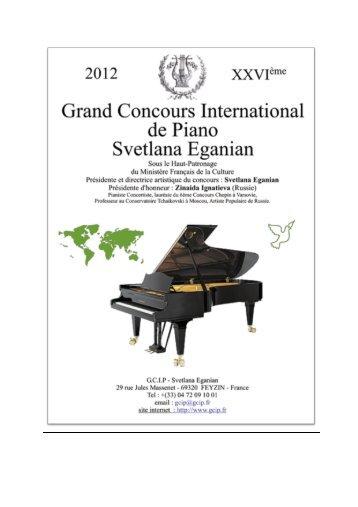 Télécharger le programme 2012 au format PDF - Grand Concours ...