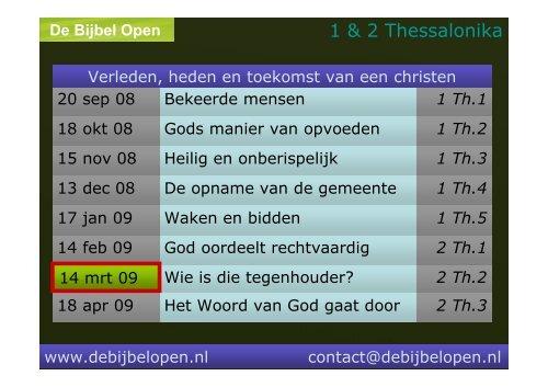1 & 2 Thessalonika - De Bijbel Open