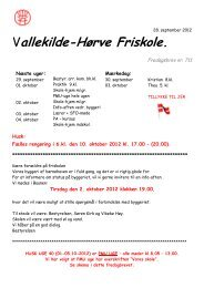 Fredagsbrev den 28. september 2012 - Vallekilde-Hørve Friskole