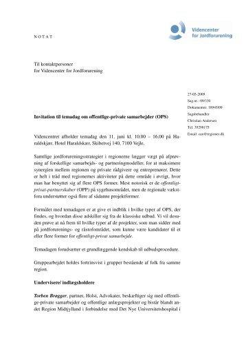 Invitation til OPS temadag - Videncenter for Jordforurening