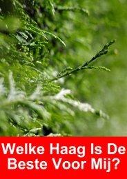 Haagplanten: De belangrijkste soorten besproken ... - Marechal