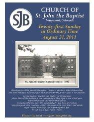 August 21, 2011 - St. John the Baptist Catholic Church and School