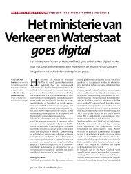 Het ministerie van Verkeer en Waterstaat goes digital - Accountant.nl