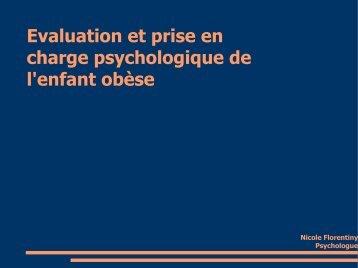 Evaluation et prise en charge psychologique de l'enfant obèse