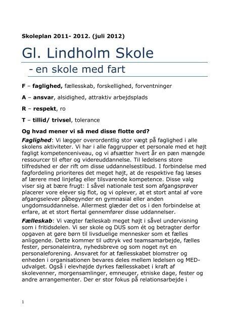 Skoleporten Gl. Lindholm Skole