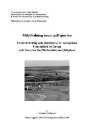 Miljöledning inom golfsporten - Golf.se