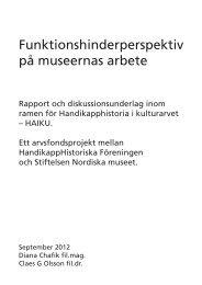 Läs mer - HandikappHistoriska Föreningen