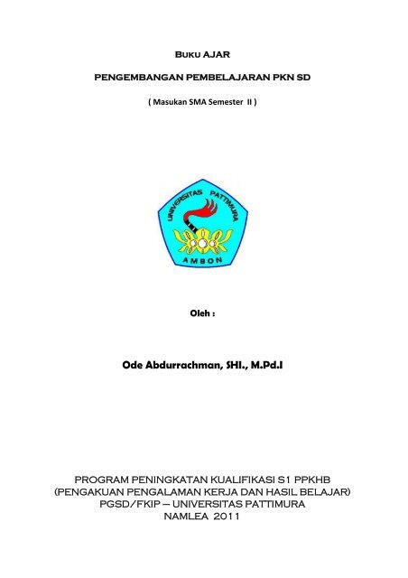 Pengembangan Pembelajaran Pkn Sd Ode Abdurrachman Blogs