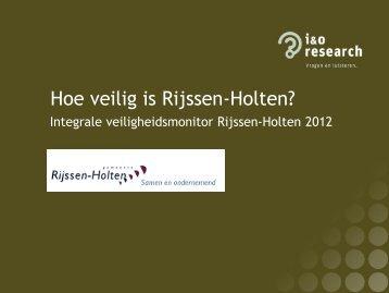 Presentatie IVM Rijssen-Holten 2012 - Gemeente Rijssen-Holten