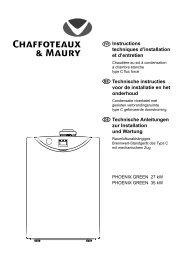 Chaffoteaux 61010436 Bloc vanne ensemble