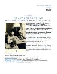 Persdossier_Van_de_ Velde-NL.pdf - Koninklijke Bibliotheek van ...