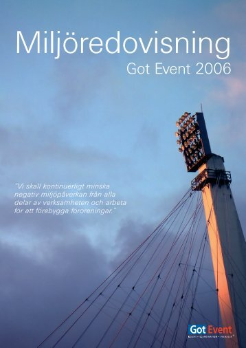 Miljöredovisning 2006 - Scandinavium