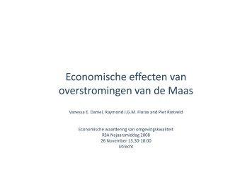 Economische effecten van overstromingen van de ... - RSA Nederland