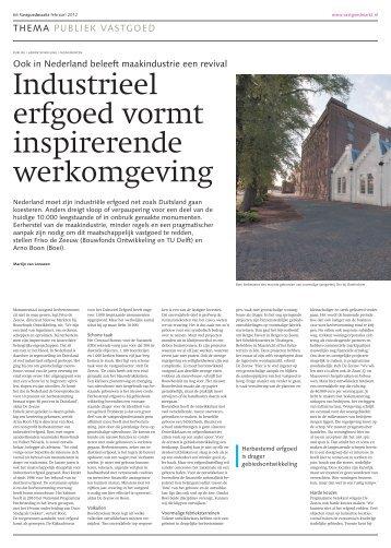 Industrieel erfgoed vormt inspirerende werkomgeving