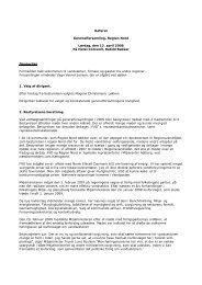 Referat Generalforsamling, Region Nord Lørdag, den 12. april ... - fvd