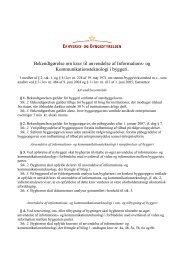 Bekendtgørelse om krav til anvendelse af ... - Erhvervsstyrelsen