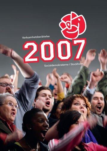Verksamhetsberättelse Socialdemokraterna i Stockholm