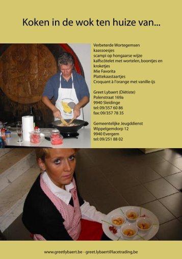 Koken in de wok ten huize van... Koken in de wok ten huize van...
