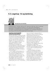 K. E. Løgstrup - liv og tænkning - Menighedsfakultetet