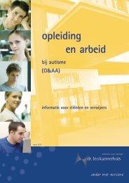 opleiding en arbeid bij autisme - Dr. Leo Kannerhuis