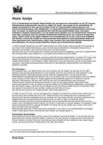 Mooie Keetje - Heemkundekring De Heerlijkheid Oosterhout