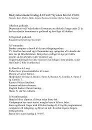 Referat for Bestyrelsesmøde den 10. April 2007 - FSAS