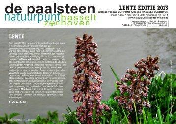 LENTE EDITIE 2013 - Natuurpunt Hasselt-Zonhoven