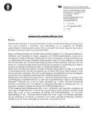 Afgørelse af 19. september 2005 (j.nr. 711.9) - Klagekomitéen for ...