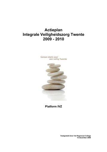 Actieplan & voortgang Integrale Veiligheid regio Twente