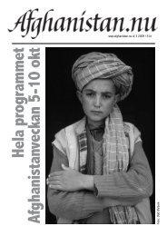Hela program m et Afghanistanveckan 5-10 okt - Afghanistan.nu