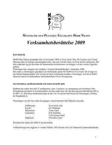 matematik och petanque sällskapet herr nilson - Matematiska ...