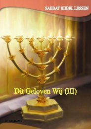 Sabbat Bijbel Lessen, juli – september 2009 - Seventh Day ...