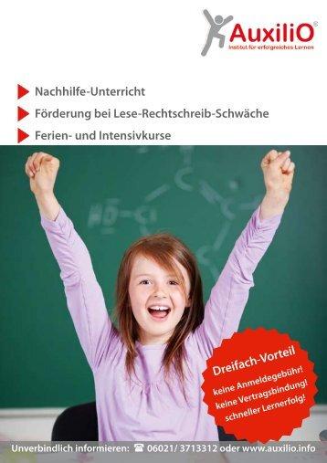 Nachhilfe-Unterricht Förderung bei Lese-Rechtschreib ... - Auxilio