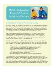 2008 MediaWise® Parents' Guide to Video Games