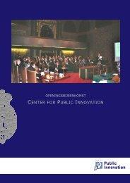 Meer informatie - Center for Public Innovation