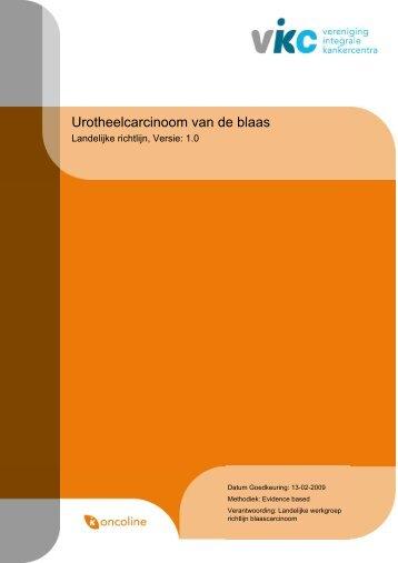Richtlijn: Urotheelcarcinoom van de blaas (1.0) - Kwaliteitskoepel