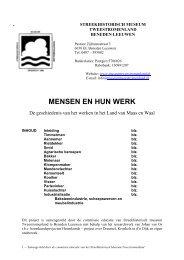 MENSEN EN HUN WERK - Museum Tweestromenland