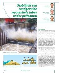 Stabiliteit zandgevulde geotextiele tubes onder ... - GeoTechniek