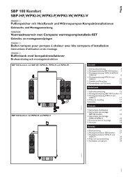 SBP 100 Komfort SBP-HF, WPKI-H, WPKI-P, WPKI-W ... - Stiebel Eltron