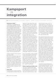 Kampsport integration - kamp & kultur