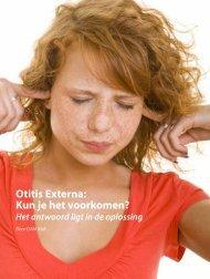 Otitis Externa – Kun je het voorkomen ? (DAN Staff, Spring 2011)