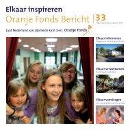Oranje Fonds Bericht 33, augustus 2009