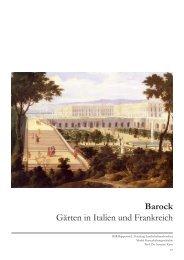 Barock Gärten in Italien und Frankreich - HTW Chur