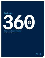 Daimler Sustainability Report 2010 - Daimler Sustainability Report ...