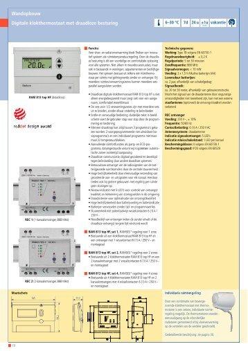 Theben digitale klokthermostaat voor draadloze bediening
