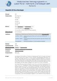 Hepatitis B-Virus-Serologie - MVZ Labor PD Dr. Volkmann und ...