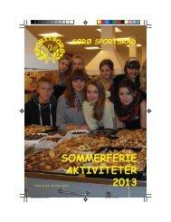 Sommerferieaktiviter 2013 - Sorø Sportsråd