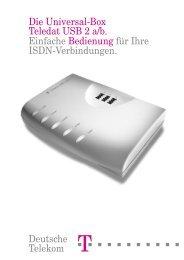 Anleitung Teledat USB 2 a/b - TAPICall